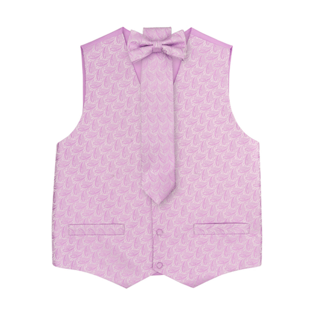 Lilac Vest Set with Hanky and Tie Karl Knox