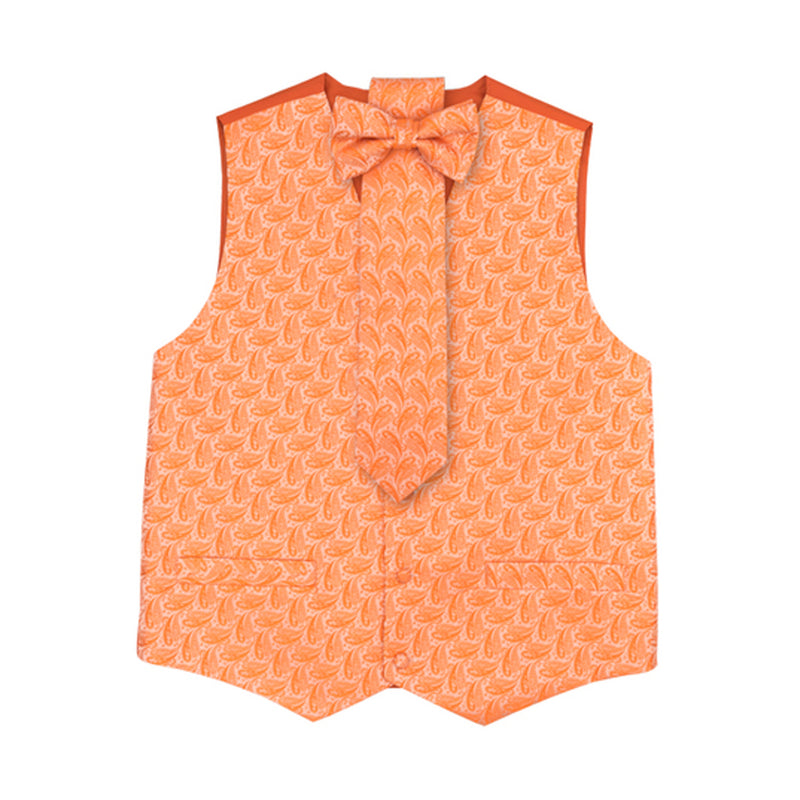 Orange Vest Set with Hanky and Tie Karl Knox