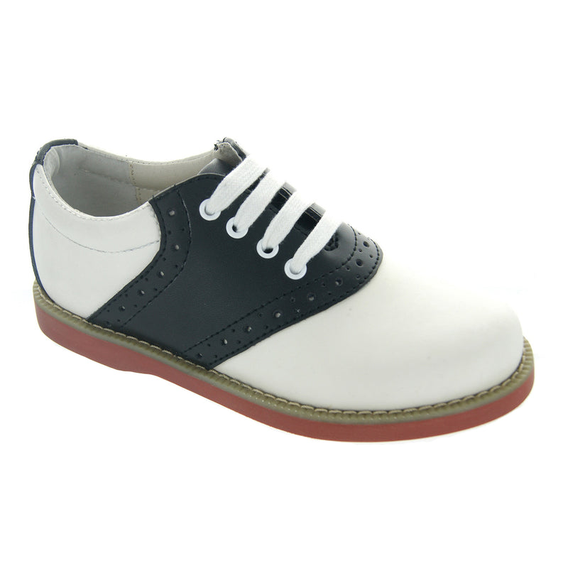 Young Ladies Black/White Oxford Shoes