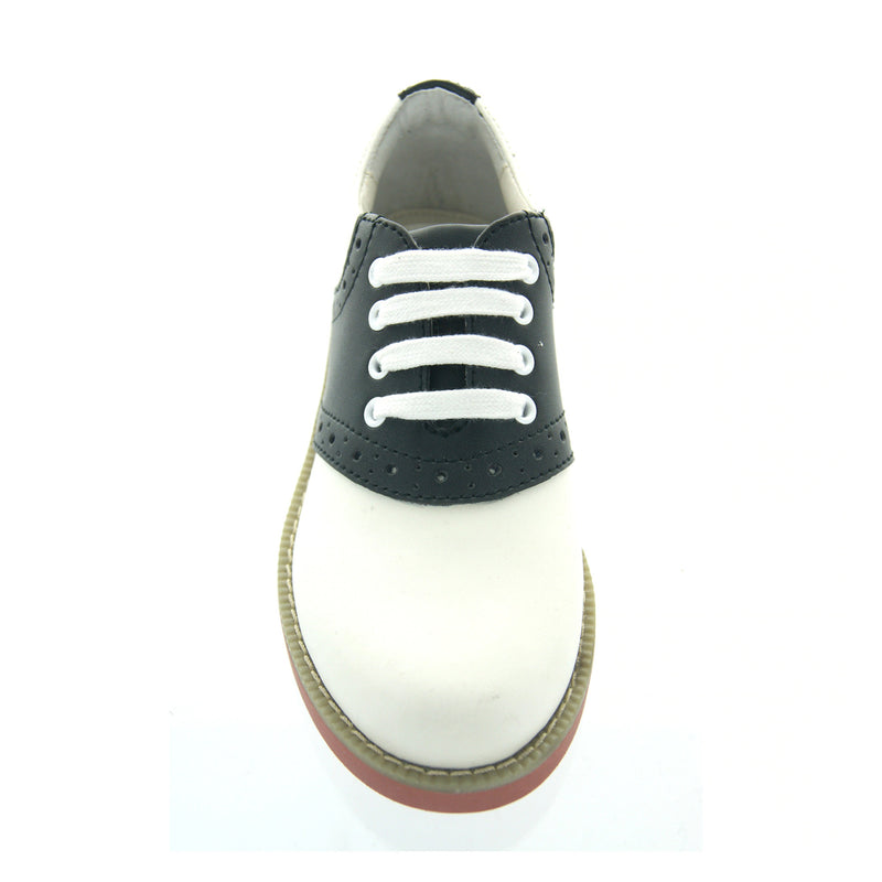 Girls Black/White Oxford Shoes