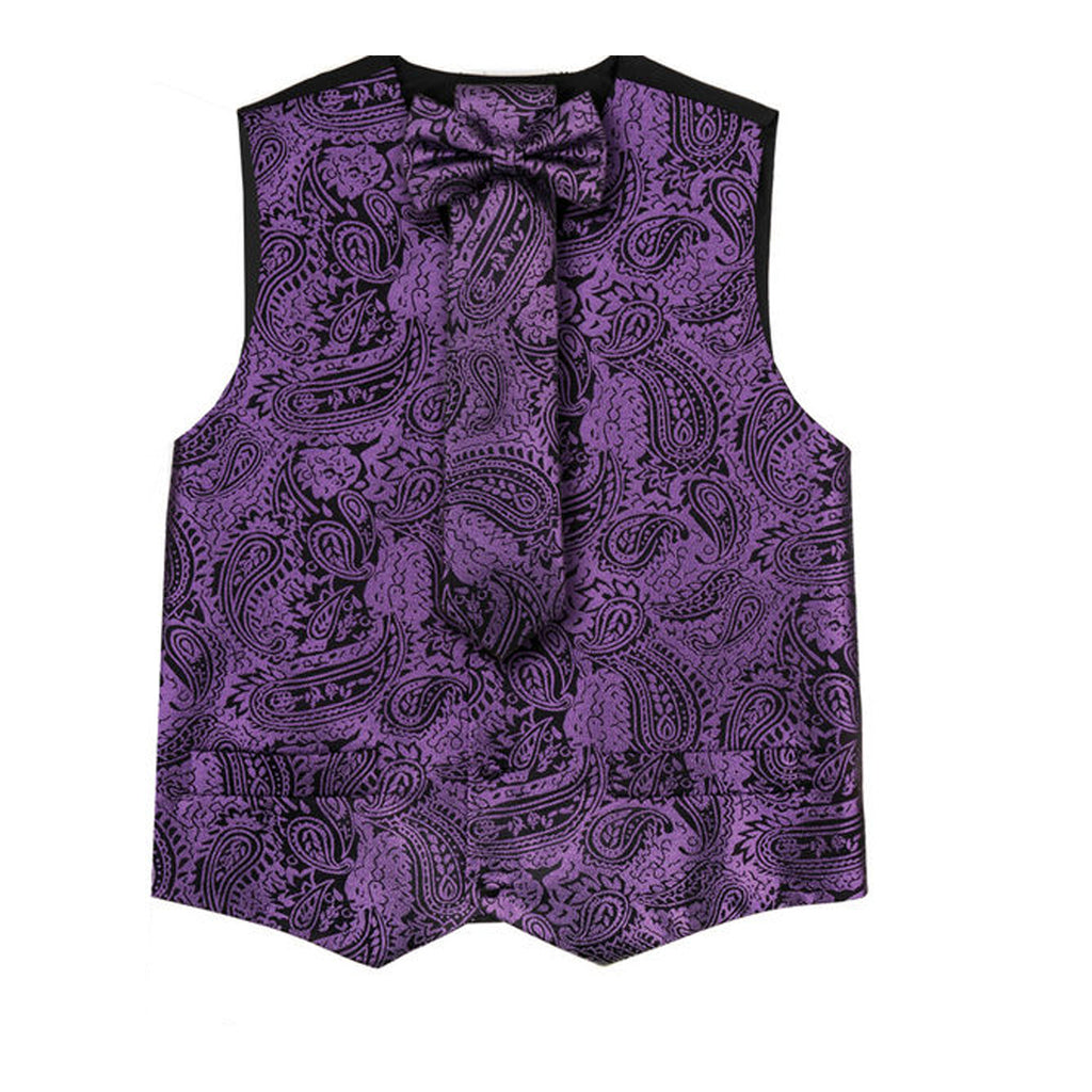 Purple Vest Set with Hanky and Tie Karl Knox