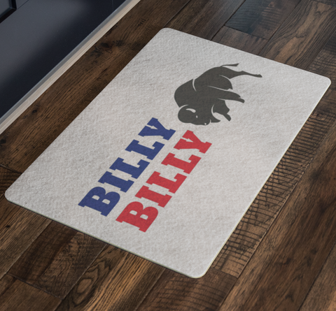 Image of Billy Billy Football Indoor/Outdoor Doormat - Dilly Dilly, Bills Mafia, Buffalo Bills