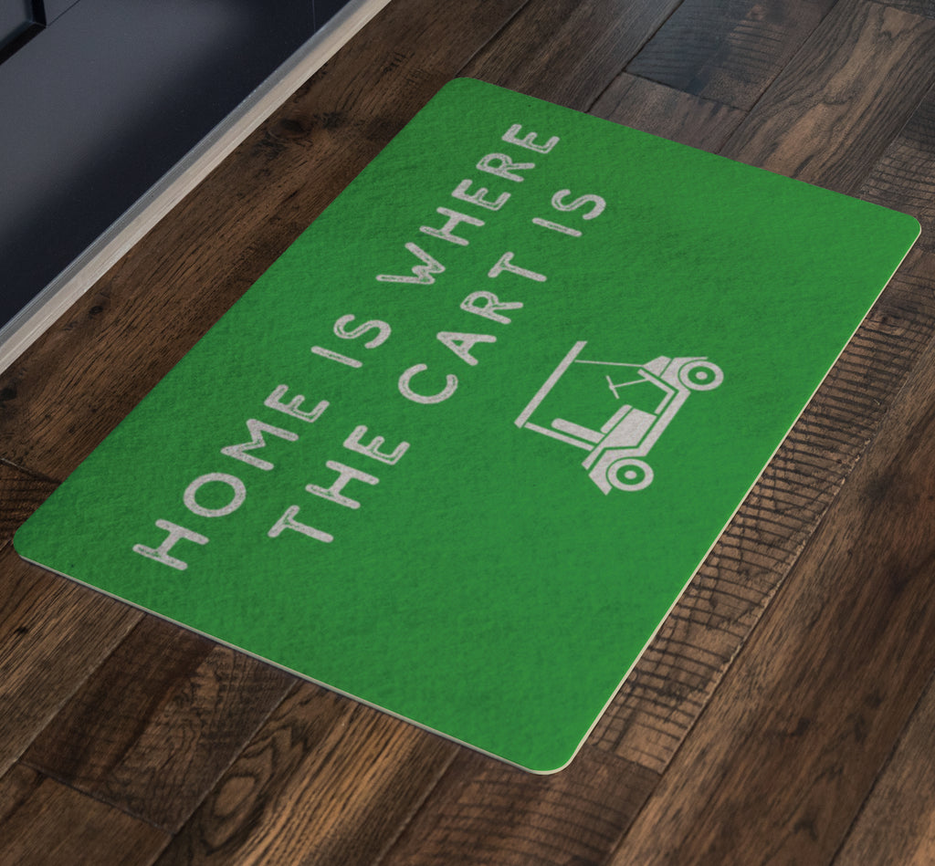 Doormat - Home Is Where The Cart Is Outdoor Doormat