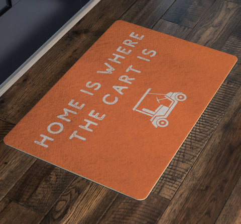 Image of Doormat - Home Is Where The Cart Is Outdoor Doormat
