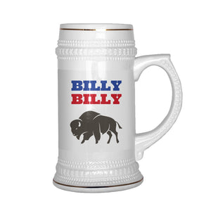 Drinkware - Billy Billy Buffalo Bills Football Beer Stein - Dilly Dilly Bills Mafia Beer Stein