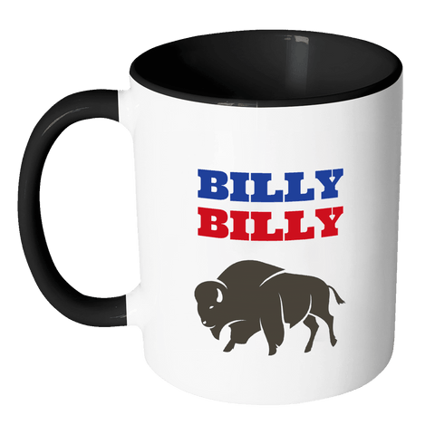 Image of Drinkware - Billy Billy Buffalo Bills Football Coffee Mug - Dilly Dilly Bills Mafia Coffee Mug