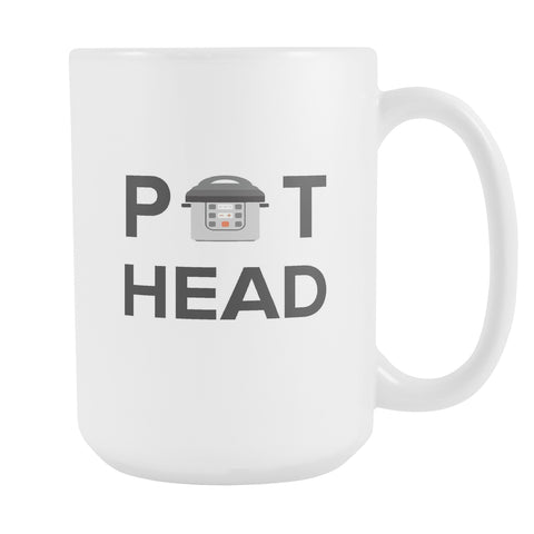 Drinkware - Pot Head Funny Coffee Mug - Instant Pot Pressure Cooker