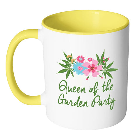 Image of Drinkware - Queen Of The Garden Party Coffee Mug - Pot Gift, Weed Gift, Marijuana Gift, Stoner Gift