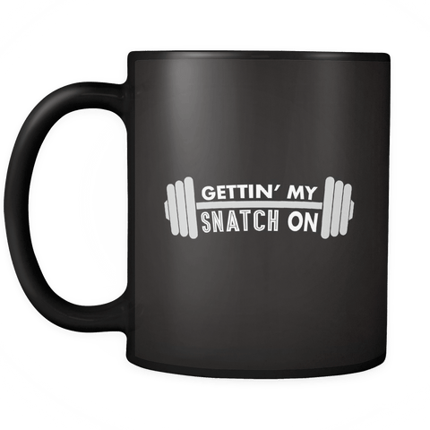 Drinkware - Snatch Crossfit Weightlifting Workout Coffee Mug - Fitness, Clean And Jerk, Power Clean