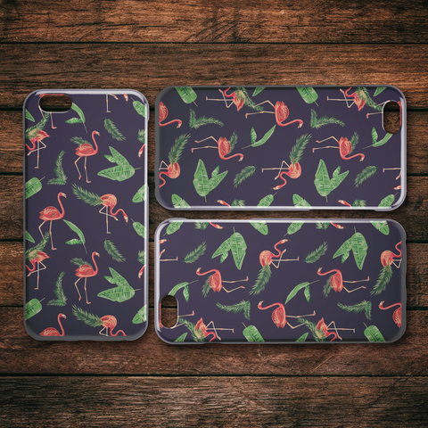 Tropical Flamingo iPhone Case - 6S, 6S Plus, 7 8, 7 8 Plus, X XS, X XS Max, XR, 11, 11 Pro, 11 Pro Max