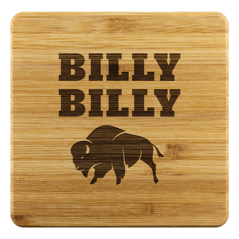 Billy Billy Football Bamboo Coasters - Dilly Dilly, Bills Mafia, Buffalo Bills