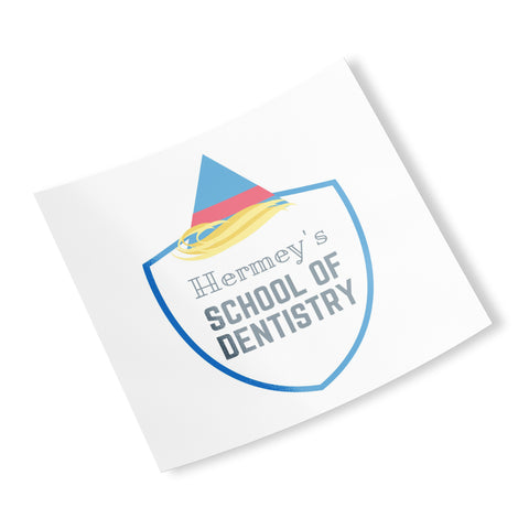 Image of Stickers 2 - Hermey's School Of Dentistry - Square Laptop Sticker