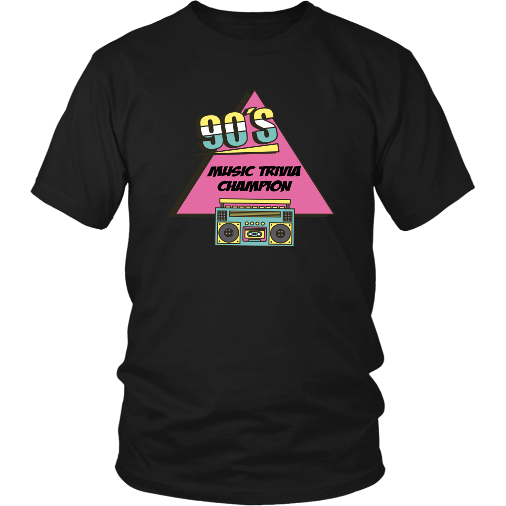 T-shirt - 90s Music Trivia Champion Funny 1990s T-Shirt