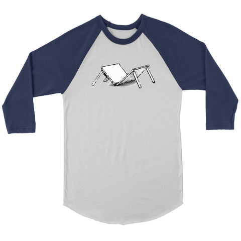 Image of T-shirt - Broken Table Raglan Baseball Shirt