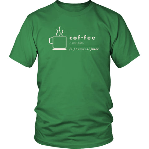 Image of T-shirt - Definition Of Coffee Graphic Short And Long Sleeve T-Shirt