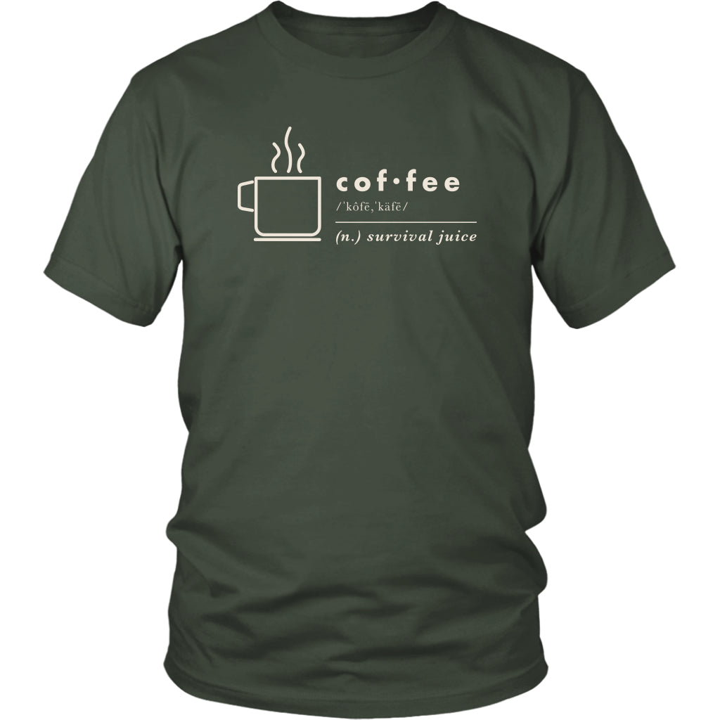 T-shirt - Definition Of Coffee Graphic Short And Long Sleeve T-Shirt