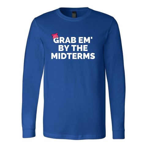 Image of T-shirt - Grab Em' By The Midterms Women's March Long Sleeve Shirt - Women's Equality - Women's Rights