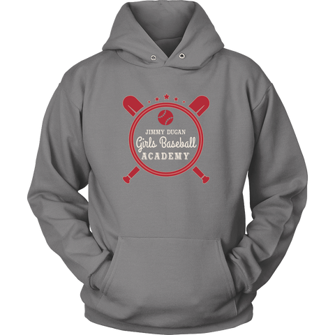 Image of T-shirt - Jimmy Dugan Girls Baseball Academy Retro Baseball Hoodie - A League Of Their Own Hoodie