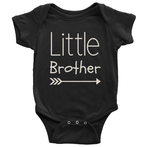 Image of T-shirt - Little Brother Cute Onesie - Infant Gift, Newborn Gift, Baby Gift