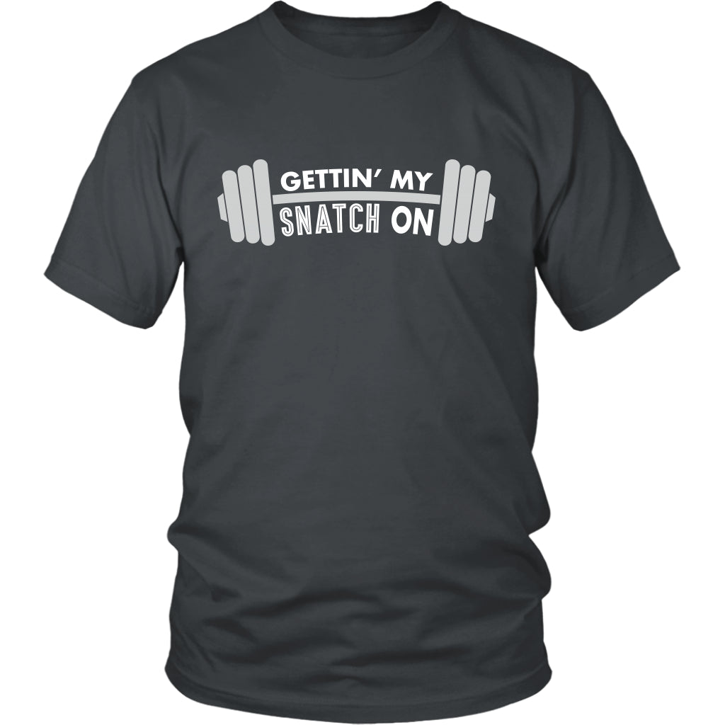 T-shirt - Snatch Crossfit Weightlifting Workout Unisex Tshirt - Fitness, Clean And Jerk, Power Clean