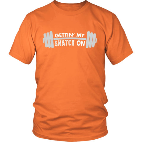Image of T-shirt - Snatch Crossfit Weightlifting Workout Unisex Tshirt - Fitness, Clean And Jerk, Power Clean