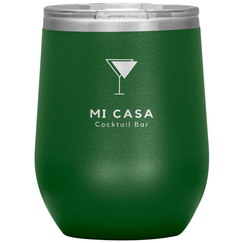Image of Wine Tumbler - Mi Casa Cocktail Bar Wine Tumbler