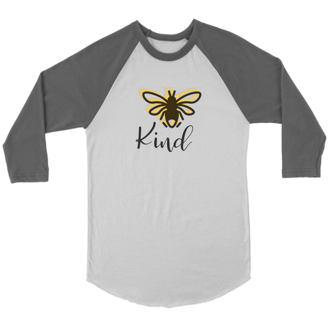 Image of Bee Kind Women's Baseball T-shirt