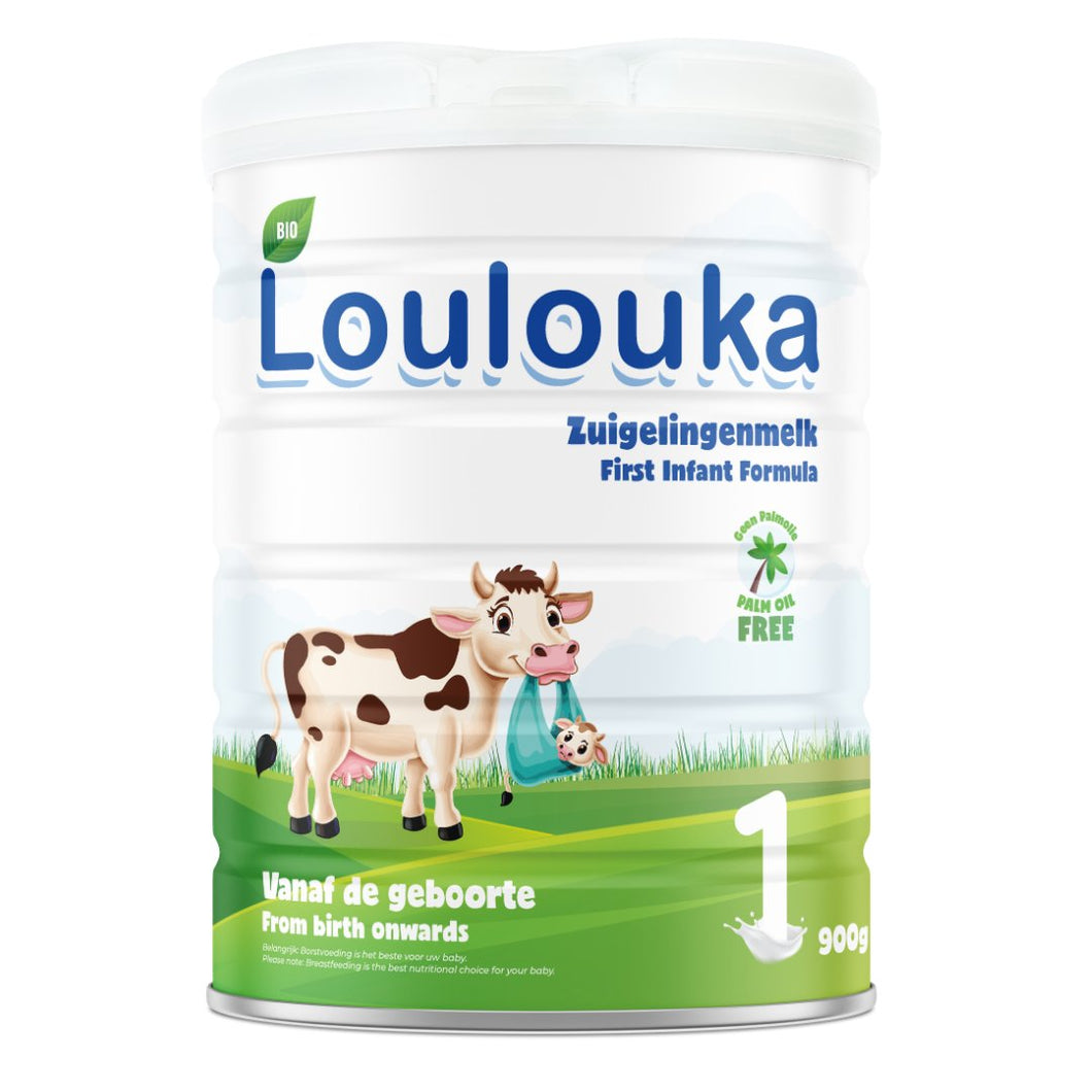 LOULOUKA Stage 1 Organic (Bio) Infant Baby Milk with DHA (900g) Formula