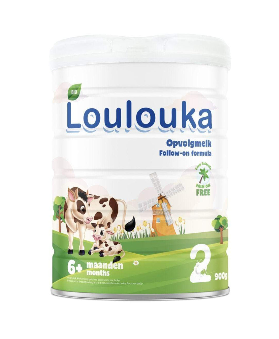 Loulouka Stage 2 Organic (Bio) Follow-on Infant Baby Milk with DHA (900g) Formula