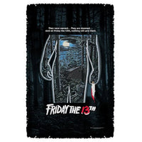 Friday the 13th Poster Woven Tapestry Throw Blanket