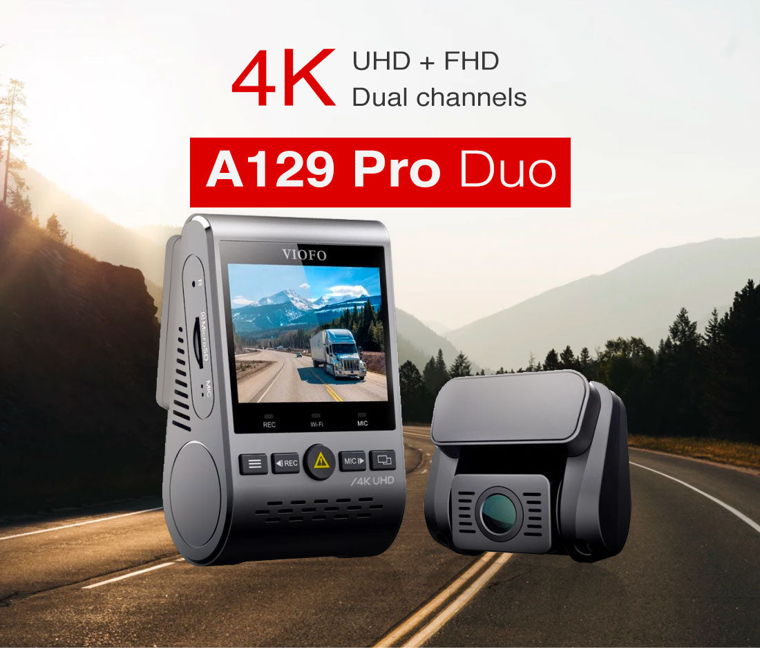 VIOFO A129Pro Duo Ultra HD 4K+Full HD 1080P Dual-Channel Dashcam