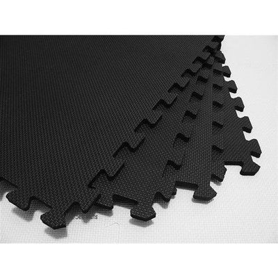 3/8'' Interlocking Mat- Black Bevel Corner 4' x 4' (PTTI38BLKBC)