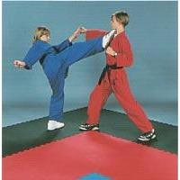 1'' Thick Dojo Mat (1m x 1m) Black/Wood Grain (DJT-BLK/WD)