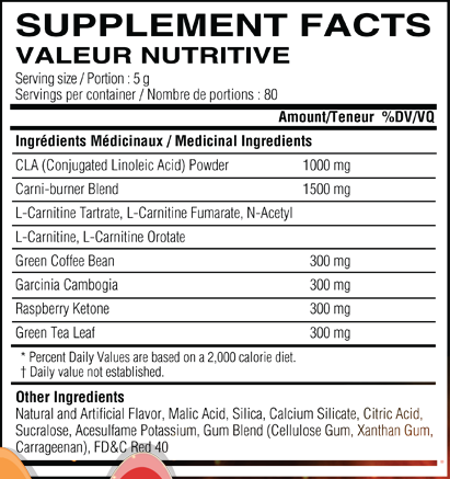 Beach Ready nutrition information