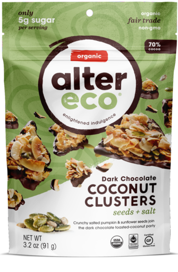 Alter Eco Chocolates Clusters - Healthy Snacks - WholeSupps Online Mega Store