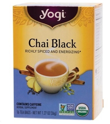 YOGI TEA Herbal Tea Bags  Chai Black 16 bags -  - WholeSupps