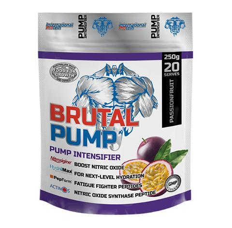 Brutal Pump by International Protein - Pre Workouts - WholeSupps