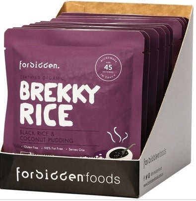 Brekky Rice  Black Rice & Coconut Pudding (125g) - Healthy Snacks - WholeSupps