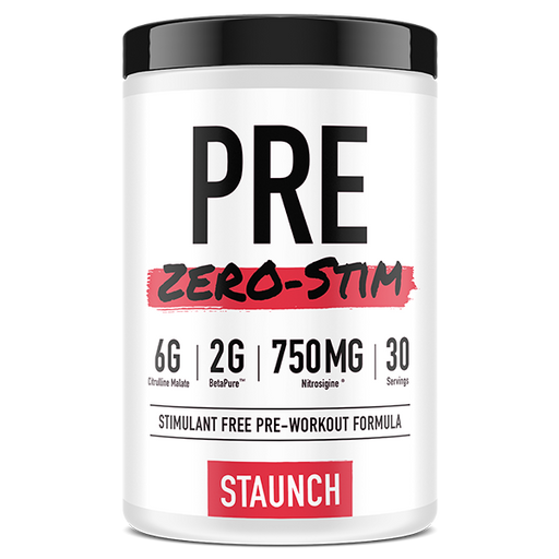 Pre Zero Stim by Staunch Nation - Pre Workouts - WholeSupps Online Mega Store