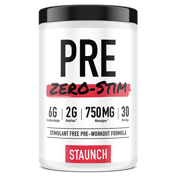 Pre Zero Stim by Staunch Nation - Pre Workouts - WholeSupps