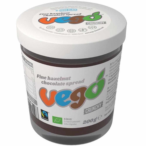 Vego CRUNCHY Hazelnut Chocolate Spread (200g) - Healthy Snacks - WholeSupps Online Mega Store