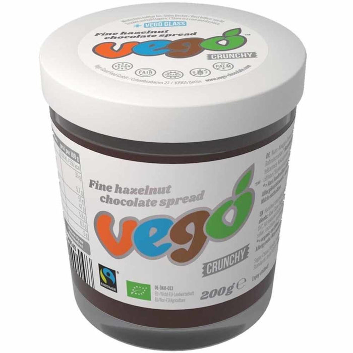 Vego Fine Hazelnut Chocolate Spread (200g) - Healthy Snacks - WholeSupps