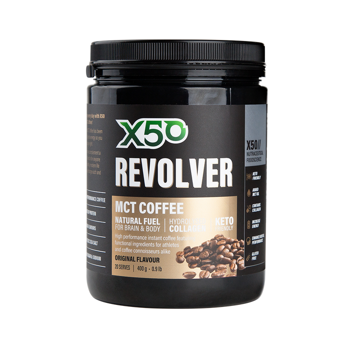 Revolver MCT Collagen Coffee by X50 - General Health / Vitamins - WholeSupps Online Mega Store