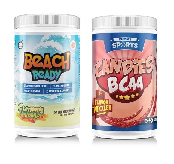 Beach Ready & Yummy BCAA Bundle Only $89.98 SAVE $59.95 - fat burner - WholeSupps Online Mega Store