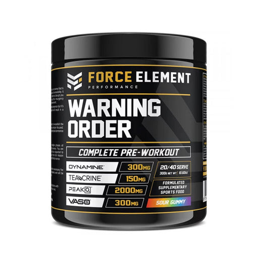 Warning Order by Force Element - Pre Workouts - WholeSupps Online Mega Store