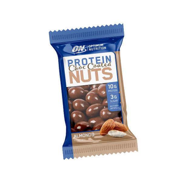 Optimum Nutrition - Protein Choc Coated Nuts - Healthy Snacks - WholeSupps Online Mega Store