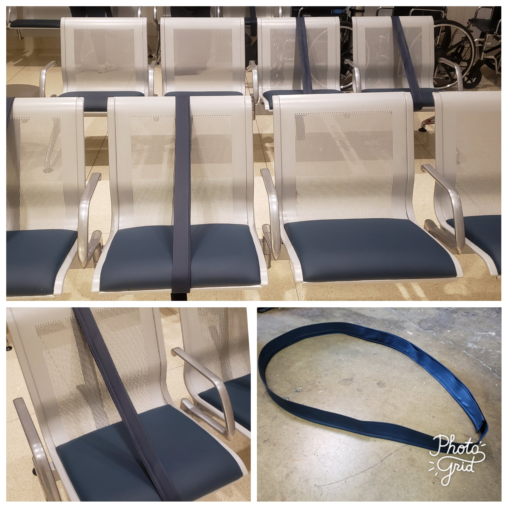 ADJUSTABLE VELCRO SEATING STRAPS