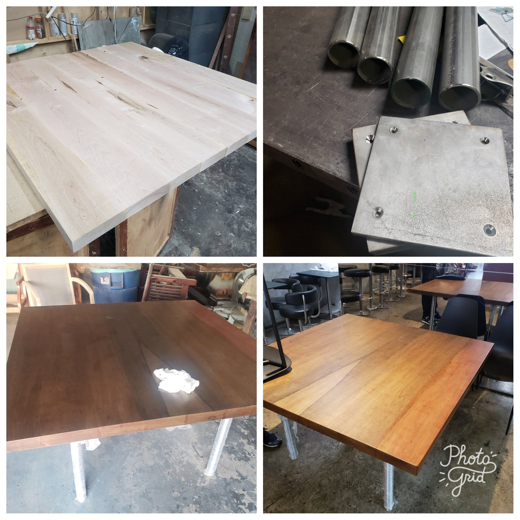CUSTOM COMMUNITY WALNUT TABLE