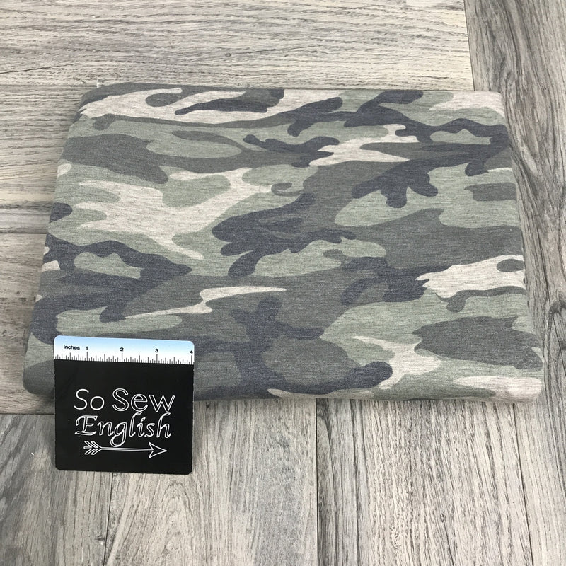 Sage CAMO - Poly Rayon Spandex -By the yard