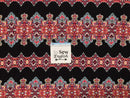 Black Stained Glass - Rayon Challis WOVEN - By the yard